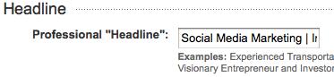 LinkedIn Profile Heading